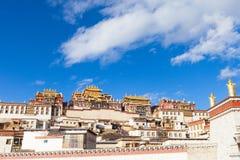 Monastère de Songzanlin dans Shangrila, Chine Images stock