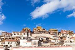 Monastère de Songzanlin dans Shangrila, Chine Image libre de droits