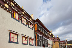 Monastère de Songzanlin dans Shangrila, Chine Photo libre de droits