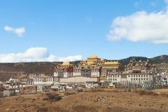 Monastère de Songzanlin dans Shangrila, Chine Photographie stock