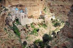 Monastère de St Geroge dans le désert de Judean photos libres de droits