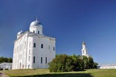 Monastère de St Yuriev de l'église orthodoxe russe en l'honneur du grand martyre George, un de en Russie Photo stock