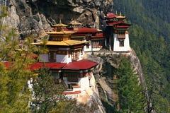 Monastère de Taktshang (l'emboîtement du tigre) au Bhutan photographie stock