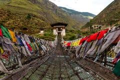 Monastère de Tamchoe, Paro province le Bhutan en septembre 2015 Images stock