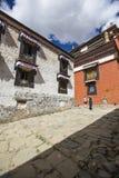 Monastère de Tashilhunpo dans le plateau tibétain Image libre de droits