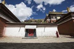 Monastère de Tashilhunpo dans le plateau tibétain Images libres de droits