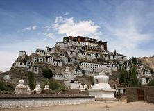 Monastère de Thiksey, Leh Photo stock