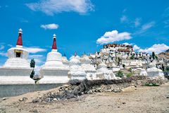 Monastère de Thiksey, Leh-Ladakh, Inde Photographie stock libre de droits