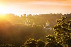 Monastère de Vydubitsky à Kiev Photos libres de droits