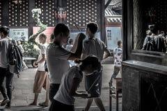 Monastère de Wenshu, Chengdu, Chine Photographie stock libre de droits