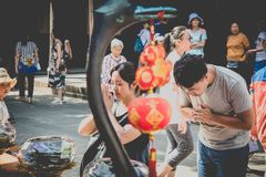 Monastère de Wenshu, Chengdu, Chine Photo libre de droits