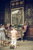 Monastère de Wenshu, Chengdu, Chine Photographie stock