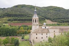 Monastère de Yuso, en San Millan de la Cogolla, La Rioja, Espagne Photographie stock libre de droits