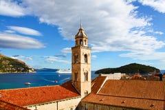 Monastère dominicain célèbre en Croatie photo stock
