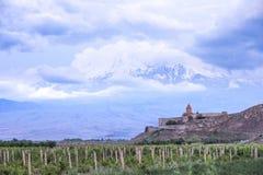 Monastère du 17ème siècle Khor Virap photo stock