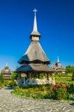 Monastère en bois de Barsana, Maramures, Roumanie Image libre de droits