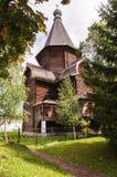 Monastère en bois Prilutsky (1519) de sauveur d'église Image libre de droits