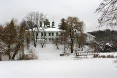 Monastère en hiver Image libre de droits