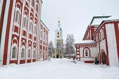 Monastère en hiver. Photos stock