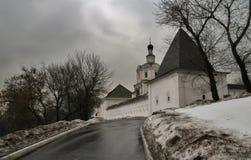 Monastère en hiver Photographie stock libre de droits