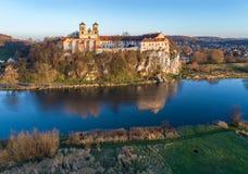 Monastère et église bénédictins dans Tyniec près de Cracovie, Pologne a Photos stock