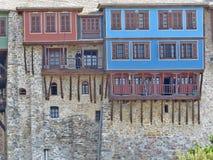 Monastère grand de Lavra Bâti saint d'Athos Photo stock