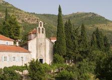 Monastère médiéval du Monténégro Image libre de droits