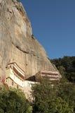 Monastère méga de Spilaio dans Kalavryta Images libres de droits