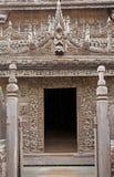 Monastère Mandalay de Shwe Nandaw Kyaung Photos stock