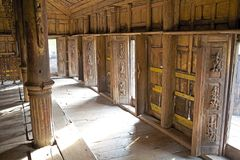 Monastère Mandalay de Shwe Nandaw Kyaung Images stock