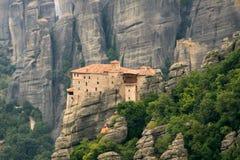Monastère Meteora de Roussanou Images libres de droits