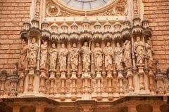 Monastère Montserrat Espagne de statues de disciples du Christ Photographie stock libre de droits