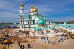 Monastère neuf de Jérusalem dans Istra, Russie images stock