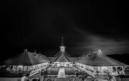 Monastère noir et blanc Photographie stock