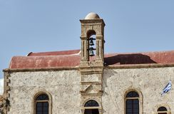 Monastère orthodoxe avec le beffroi Images libres de droits