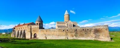 Monastère orthodoxe d'Alaverdi dans la région de Kakhetia en Géorgie orientale Photographie stock libre de droits