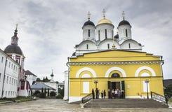 Monastère orthodoxe dans la ville de Borovsk près de Moscou Image libre de droits