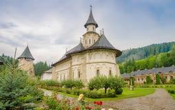 Monastère orthodoxe de Putna en région de la Moldavie de la Roumanie image stock