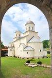 Monastère orthodoxe serbe Mileseva, Serbie Photographie stock libre de droits