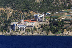 Monastère Osiou Grigoriou et x28 ; St Gregory et x29 ; chez le mont Athos Photo libre de droits