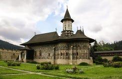 Monastère peint orthodoxe d'église de Sucevita, Moldavie, Bucovina, Roumanie photo libre de droits