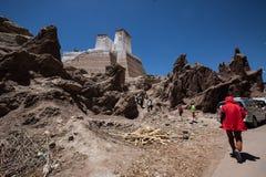 Monastère près de ville de Leh Photographie stock