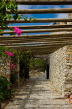 Monastère Profitis Ilias Photos libres de droits