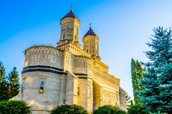Monastère religieux Cetatuia dans Iasi, Roumanie Photographie stock libre de droits