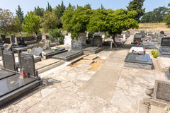 Monastère Rezevici de cimetière dans Monténégro Photos stock