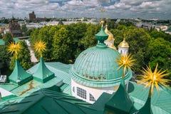 Monastère russe de couvent de Transfiguration saint Images stock