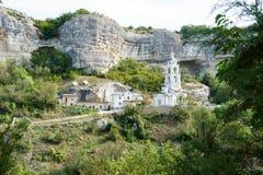 Monastère saint d'hypothèse dans Bakhchisaray Images libres de droits