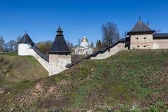 Monastère saint de Pskov-cavernes de Dormition Photographie stock libre de droits