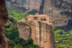 Monastère saint de Rousanou dans Meteora Photos libres de droits
