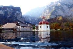 Monastère StBartoloma de Konigsee Image stock